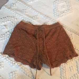 Camel brown shorts